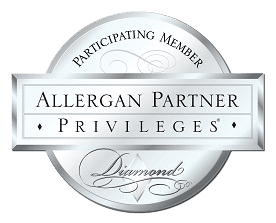 Diamond Allergan Partner logo for Rejuvenation Center Medical Spa