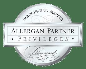 Diamond Allergan Partner logo for Rejuvenation Center Medical Spa
